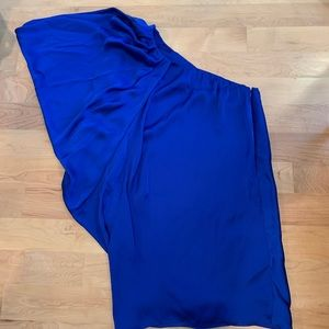 Aqua by Bloomingdales blue off the shoulder dress!